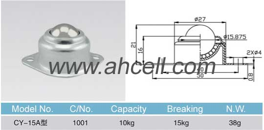 CY_15A ball transfer unit size